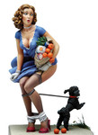 Andrea Miniatures: Pinup Series - Black Doggy