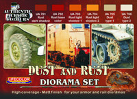 Lifecolor - Diorama Dust and Rust Acrylic Paint Set