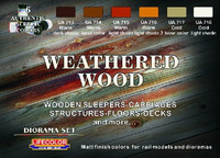Lifecolor - Diorama Weathering Wood Acrylic Paint Set