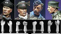 Alpine Miniatures - Panzer Crew Heads and Hands