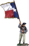 Wm. Britain - Confederate Infantry Color Sergeant Charging - 1st Texas Flag No.1