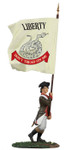 Wm. Britain - Continental Infantry 1776-1777 Charging Flagbearer No.1