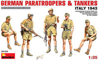 Miniart Models - German Paratroopers & Tankers, Summer Dress, Italy 1943