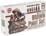 Andrea Miniatures - Brown Paint Set