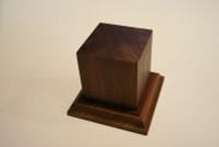 Wood Figure Pedestal Base 90mm