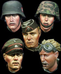 Alpine Miniatures - Waffen SS Head Set #4