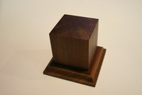 Wood Figure Pedestal Base 120mm