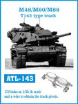 Fruilmodel M48/60/88 T142 Type Track Set