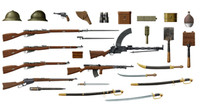 ICM Models WWI Russian Infantry Weapons & Equipment