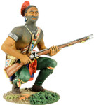Wm. Britain - Eastern Woodland Indian Squatting, Waiting with Musket
