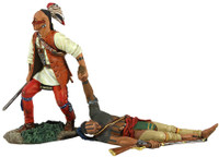 "Wm. Britain -""No One Left Behind"" Eastern Woodland Indian Dragging Wounded Comrade Hand-to-Hand Set"