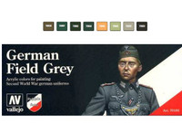 Vallejo Model Color German Field Grey Uniform Model Color Paint Set