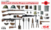 ICM Models WWI French Infantry Weapons/Equipment