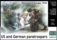 Master Box Models Watching the Girls, US & German Paratroopers South of Europe 1944