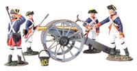 Wm. Britain - British Royal Artillery 6 Pound Gun with 4 Man Crew