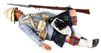 Wm. Britain - British 42nd Highlander Casualty on Back