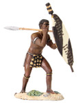 Wm. Britain - Zulu Warrior Beating Sheild with Spear