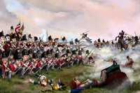 Depicting the savage action at Quatre Bras between the British 28th and Marshal Ney's cuirassiers.
