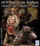Alexandros Models Herakles and Cerberus