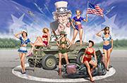 Master Box Models American Pin-Up Girls