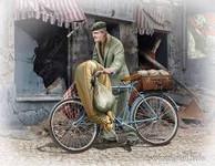 Master Box Models The Price of War, Elderly European Man w/Bicycle 1944-45