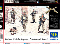 Master Box Models  Modern US Infantry Cordon & Search w/Special Dog