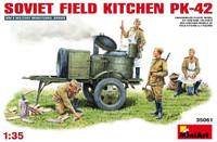 Miniart Models KP42 Soviet Field Kitchen w/4 Crew