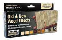 Vallejo Old & New Wood Effects Model Air Paint Set