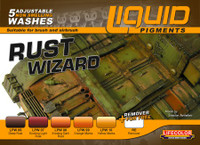 Lifecolor Rust Wizard Weathering Liquid Pigments Set
