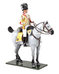 Wm. Britain British 10th Light Dragoons Trumpeter Mounted, 1795