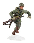 Wm. Britain  U.S. 101st Airborne Infantry Running with M-1 Garand No.1, Winter 1944-45