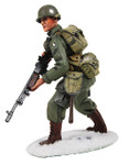 Wm. Britain U.S. 101st Airborne Infantry in M-43 Jacket Advancing with BAR, Winter 1944-45