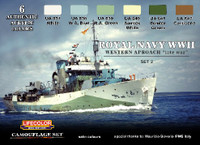 Lifecolor - Royal Navy WWII Western Approach Late War Set #1 Camouflage Acrylic Set