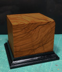 Wood Figure Base - Burl Olive Wood