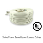 UL Listed Video/Power Surveillance Camera Premade RG59 CCTV Cable