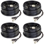 Five Star Cable ETL Listed 100 feet RG59 siamese cable for CVI, TVI, AHD and HD-SDI camera system (4 pack)