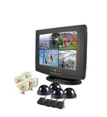 15 LCD with Built in 4 Channel DVR Surveillance System