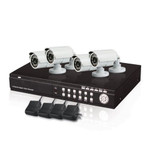 4 Channel DVR CCTV Security System with 4 Weatherproof IR Cameras Package