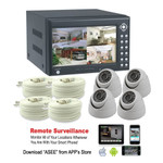 All-in-one 4 Channel H.264 Digital Video Recording + 4x Color Camera + 4x RG59 cables