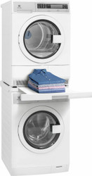 """Electrolux 24"""" Wide White Electric Front Load Compact Laundry Set w/ Stack Kit EIFLS20QSW EIED200QSW Stackit24"""