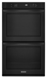 """KitchenAid® Architect® Series II 27"""" Black Convection Double Wall Oven KEBS279BBL"""