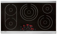 "LG 36"" Stainless Steel Electric Smoothtop Cooktop LCE3681ST"