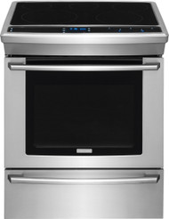 "Electrolux 30"" Stainless Steel Wave-Touch Electric Slide-In Range EW30ES80RS"