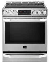 LG Studio Stainless Steel Electric Slide-in Smoothtop Convection Range LSSE3026ST