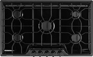 Frigidaire 36 inch Black Gas Cooktop with 5 Sealed Burners FFGC3610QB