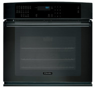 "Electrolux 27"" Black IQ-Touch Series Single Electric Wall Oven EI27EW35KB with PerfectConvect³®, Large Capacity, Fast Preheat, A Luxury-Glide® Oven Rack, A ""My Favorite"" Setting, Platinum Star® Limited Warranty, IQ-TouchTM Controls, Luxury-Design® Lighting, Interactive Word Prompts, Convection Conversion, Signature Cobalt Blue Interior and ADA Compliant"
