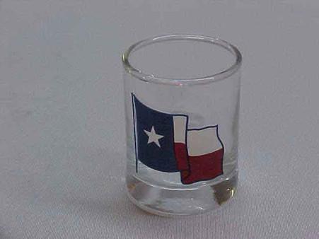Waving Texas Flag Shot Glass TX1003