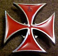 Red Maltese Cross Concho