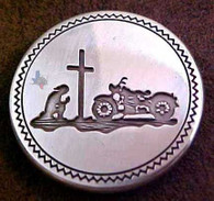 Motorcycle Conchos Bikers At The Cross