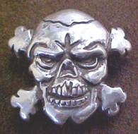 Biker Skull Cross Bones Conchos